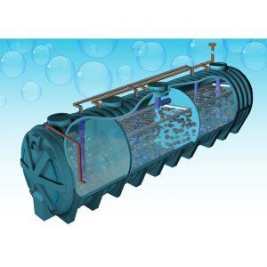 ถังบำบัดน้ำเสีย Aqua รุ่นยอดนิยม ที่ออกแบบเพื่อบำบัดน้ำเสียจากอาคารขนาดกลางและขนาดใหญ่ รองรับปริมาณน้ำเสียชุมชน